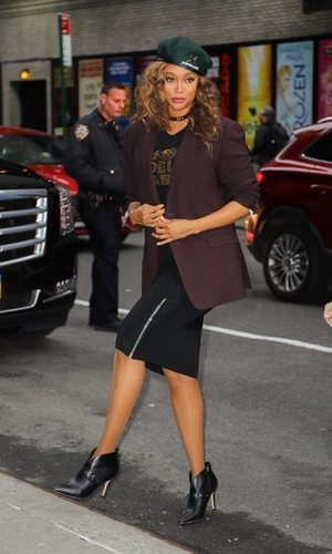 Tyra Banks, al más puro estilo working girl