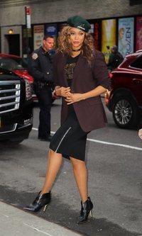 Tyra Banks, al más puro estilo working girl
