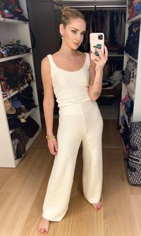 Chiara Ferragni no se puede resistir a la ropa de Kim Kardashian para andar por casa