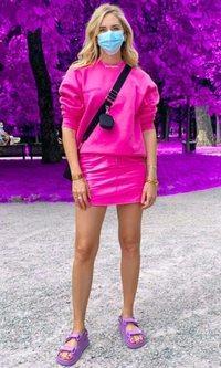 El look más primavera de Chiara Ferragni para dar los primeros paseos