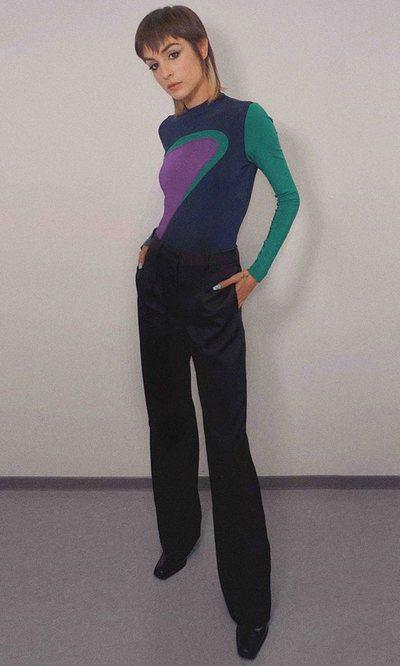 Natalia Lacunza tiene el look se oficina más desenfadado