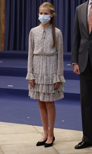 La Princesa Leonor se sube por primera vez a unos tacones para un acto público