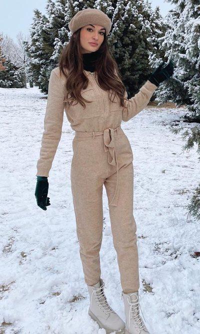 Estela Grande tiene el look perfecto para los días de nieve