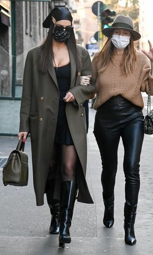 Irina Shayk se mimetiza con las italiana gracias a su último look en Milán