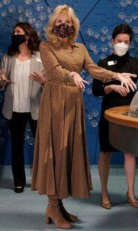 El vestido de lunares de Jill Biden con el que no quiere decir nada